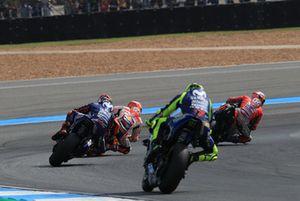 Dovizioso.Marc Marquez, Repsol Honda Team, Maverick Viñales, Yamaha Factory Racing, Valentino Rossi, Yamaha Factory Racing