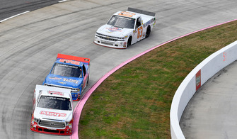 Tyler Ankrum, DGR-Crosley, Toyota Tundra May's Hawaii / CROSLEY BRANDS, Stewart Friesen, Halmar Friesen Racing, Chevrolet Silverado We Build America, Kyle Donahue, MB Motorsports, Chevrolet Silverado