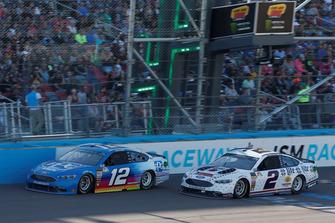 Brad Keselowski, Team Penske, Ford Fusion Miller Lite, Ryan Blaney, Team Penske, Ford Fusion PPG