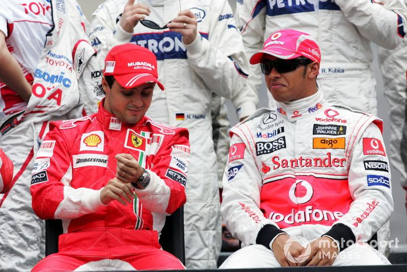 Felipe Massa, Ferrari and Lewis Hamilton, McLaren