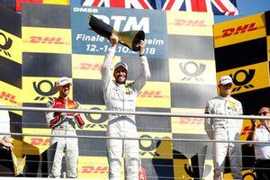 Şampiyon Gary Paffett, Mercedes-AMG Team HWA, 2. René Rast, Audi Sport Team Rosberg, 3. Paul Di Resta, Mercedes-AMG Team HWA