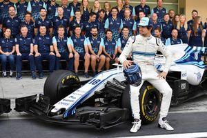 Lance Stroll, Williams Racing op de teamfoto
