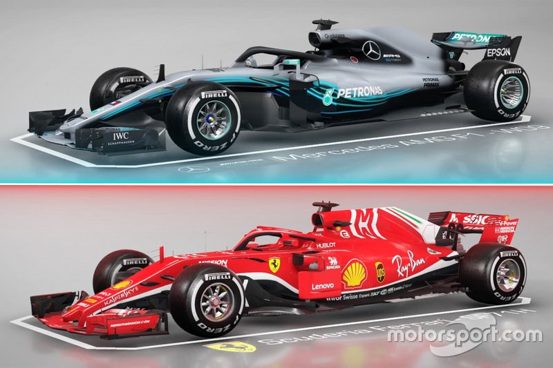 Comparaison entre la Mercedes AMG F1 W09 et la Ferrari SF71H