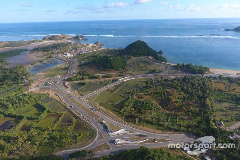 Lokasi sirkuit MotoGP di Mandalika, Lombok