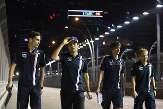 Sergio Perez, Racing Point Force India F1 Team walks the track