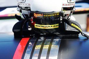 Dettaglio del casco di Simone Pellegrinelli, Bonaldi Motorsport