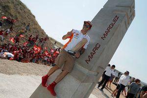 Marc Marquez, Repsol Honda Team at the Marc Marquez monument inauguration