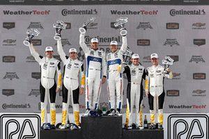 #3 Corvette Racing Chevrolet Corvette C7.R, GTLM - Antonio Garcia, Jan Magnussen, #67 Chip Ganassi Racing Ford GT, GTLM - Ryan Briscoe, Richard Westbrook, #4 Corvette Racing Chevrolet Corvette C7.R, GTLM - Oliver Gavin, Tommy Milner, podium