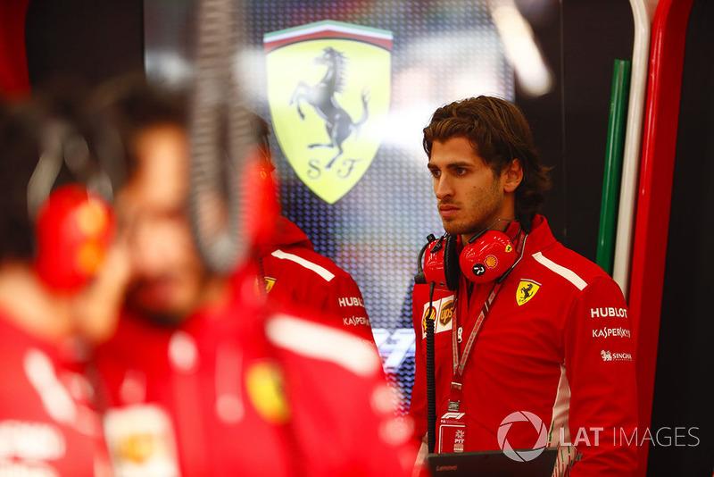 Antonio Giovinazzi, Test anf Reserve Driver, Ferrari