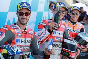 Il poleman Jorge Lorenzo, Ducati Team, Andrea Dovizioso, Marc Marquez