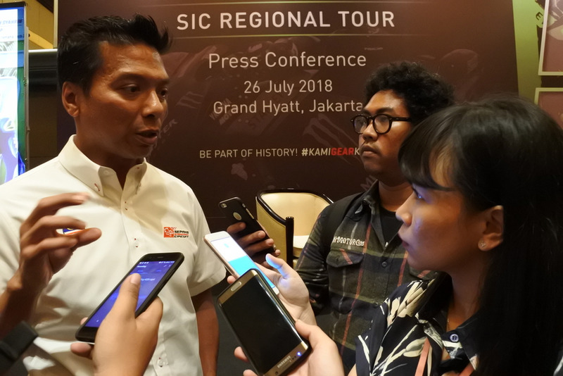 Dato' Razlan Razali, CEO Sepang International Circuit speak to media after press conference