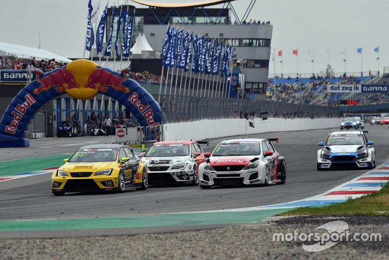 Stian Paulsen, Stian Paulsen Racing Cupra TCR, Mikel Azcona, PCR Sport Cupra TCR, Julien Briché, JSB Compétition Peugeot 308 TCR
