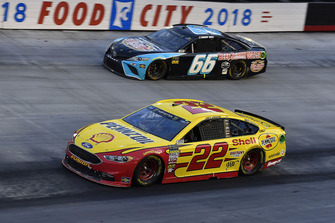 Joey Logano, Team Penske, Ford Fusion Shell Pennzoil and Timmy Hill, Motorsports Business Management, Toyota Camry