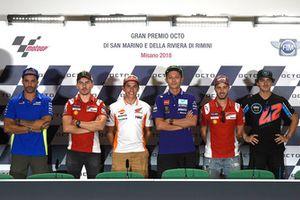 Andrea Iannone, Team Suzuki MotoGP, Jorge Lorenzo, Ducati Team, Marc Marquez, Repsol Honda Team, Valentino Rossi, Yamaha Factory Racing, Andrea Dovizioso, Ducati Team, Bagnaia