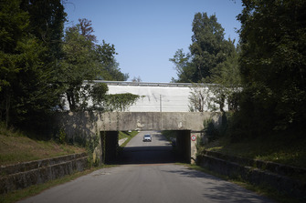 Historic banking over a tunnel at Monza