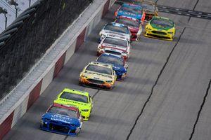 A.J. Allmendinger, JTG Daugherty Racing, Chevrolet Camaro Kroger ClickList and Ryan Blaney, Team Penske, Ford Fusion Menards/Duracell