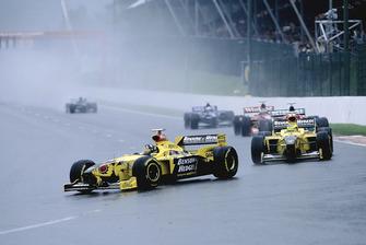 Damon Hill, Jordan 198 e Ralf Schumacher, Jordan 198