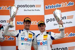 Podium: third place #20 Team Zakspeed BKK Mobil Oil Racing Mercedes-AMG GT3: Kim-Luis Schramm, Nicolai Sylvest