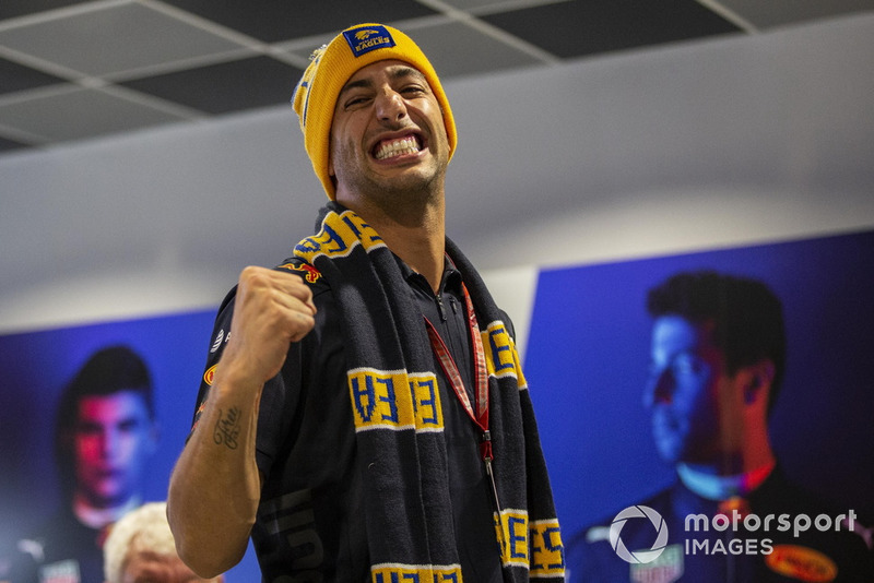 Daniel Ricciardo, Red Bull Racing supports The West Coast Eagles in the AFL Final
