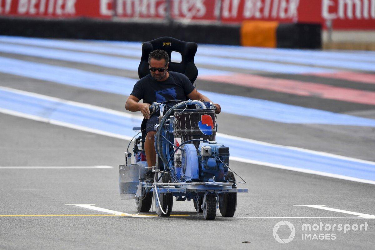 Trabajos en el circuito de Paul Ricard
