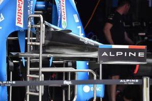 Носовой обтекатель и переднее антикрыло Alpine A521