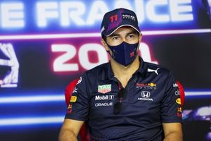 Sergio Perez, Red Bull Racing in the Press Conference