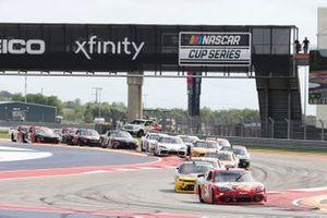 Xfinity Signage, Kyle Busch, Joe Gibbs Racing, Toyota Supra Skittles Gummies