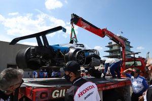 Crash> Alex Palou, Chip Ganassi Racing Honda