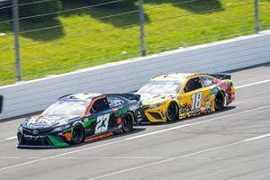 Bubba Wallace, 23XI Racing, Toyota Camry DraftKings, Kyle Busch, Joe Gibbs Racing, Toyota Camry M&M's Mini's