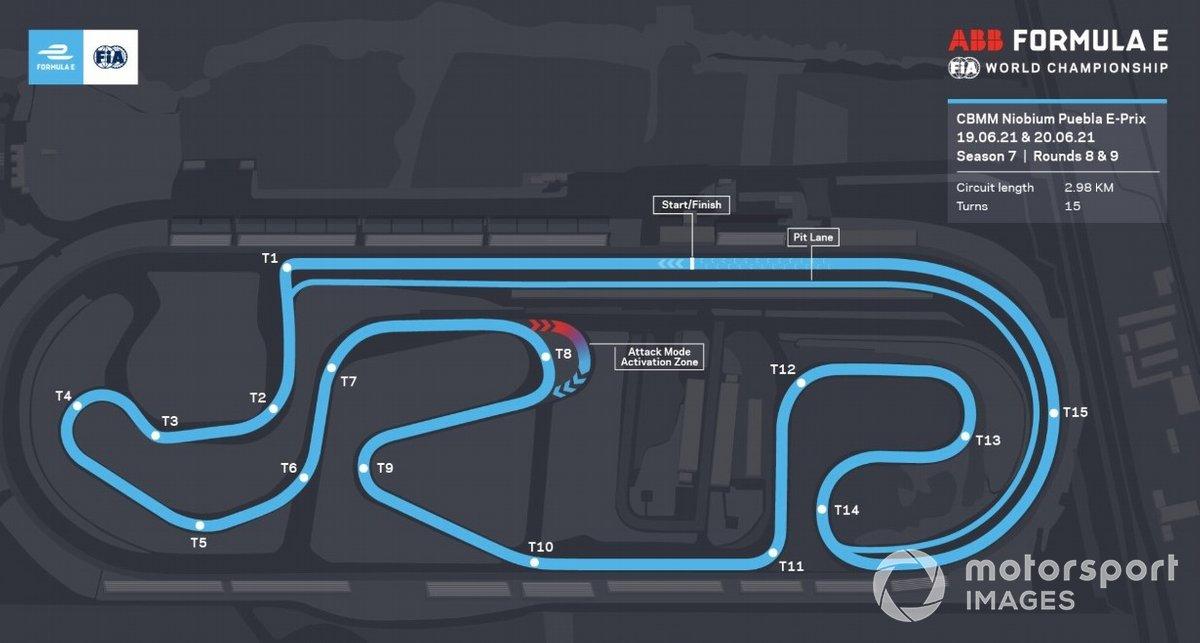 Puebla Formula E track map