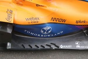 McLaren MCL35M floor deflectors detail