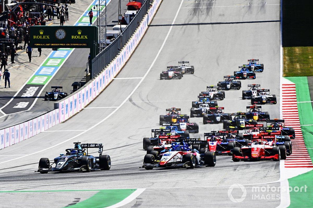 Matteo Nannini, Hwa Racelab, Logan Sargeant, Charouz Racing System, Victor Martins, MP Motorsport, Olli Caldwell, Prema Racing, Arthur Leclerc, Prema Racing