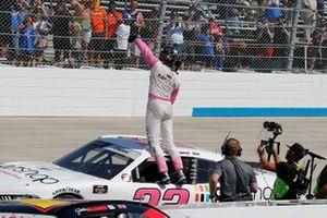 Austin Cindric, Team Penske, Ford Mustang Car Shop celebrates his win