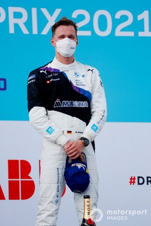 Maximilian Guenther, BMW I Andretti Motorsport, first position, on the podium