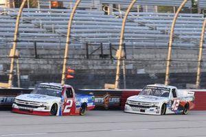 #2: Sheldon Creed, GMS Racing, Chevrolet Silverado GMS Racing, #42: Carson Hocevar, Niece Motorsports, Chevrolet Silverado Scott's/GMPartsNow