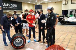 Stefano Domenicali Presidente e Amministratore Delegato F1, Charles Leclerc Ferrari,