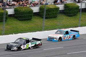 Hailie Deegan, Team DGR, Ford F-150 Toter and Chase Purdy, GMS Racing, Chevrolet Silverado BamaBuggies.com