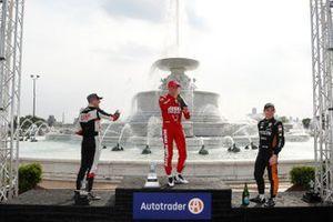 Marcus Ericsson, Chip Ganassi Racing Honda, Rinus VeeKay, Ed Carpenter Racing Chevrolet, Patricio O'Ward, Arrow McLaren SP Chevrolet