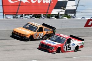 Tanner Gray, Team DGR, Ford F-150 Ford Performance and Tyler Ankrum, GMS Racing, Chevrolet Silverado LiUNA!
