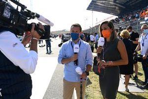 Christian Klien and Andrea Schlager, Servus TV F1, on the grid