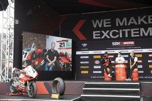 Presentación de la Ducati V2 con Michael Ruben Rinaldi, Aruba.It Racing - Ducati, Troy Bayliss
