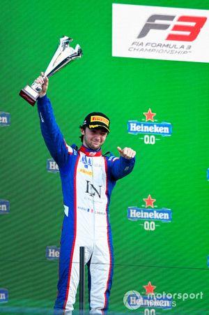 Clement Novalak, Trident celebrates on the podium