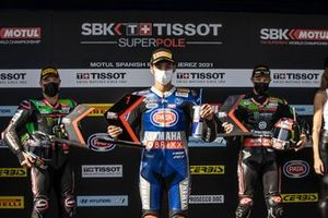Alex Lowes, Kawasaki Racing Team WorldSBK, Toprak Razgatlioglu, PATA Yamaha WorldSBK Team, Jonathan Rea, Kawasaki Racing Team WorldSBK, Super pole