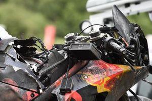Moto de Dani Pedrosa, Red Bull KTM Factory Racing, tras el incendio