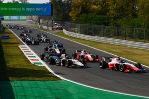 Robert Shwartzman, Prema Racing, Christian Lundgaard, ART GrPrix, Oscar Piastri, Prema Racing
