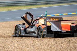 Choque del #25 G-Drive Racing Aurus 01 - Gibson LMP2, John Falb, Roberto Merhi, Rui Andrade