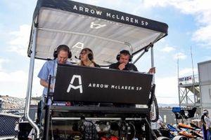 Felix Rosenqvist, Arrow McLaren SP Chevrolet VIP stand