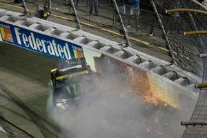 Kurt Busch, Chip Ganassi Racing, Chevrolet Camaro Monster Energy wrecks