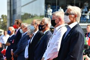 Ross Brawn, Managing Director of Motorsports, on the grid with dignitaries