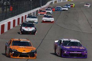 Daniel Hemric, Joe Gibbs Racing, Toyota Supra Poppy Bank, Spencer Boyd, DGM Racing, Chevrolet Camaro MiniDoge
